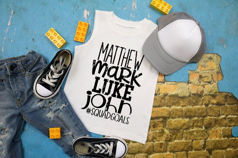 Boys Easter shirt, Mathew, mark, Luke, and john, Bible verse tee, squadgoals, religious kids shirt, Kids Easter shirt, kids jesus shirt