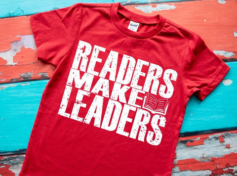 teacher shirt, kids reading shirt, readers make leaders, positivity tee, school shirt, book lover tee, bookish shirt, reading week, book tee