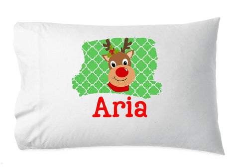 Christmas pillowcases, stocking stuffer, reindeer pillow cases, custom pillowcases, personalized pillowcases, gift for kids, reindeer pillow