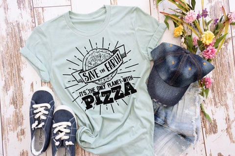 Save the planet tee, funny tee, pizza, earth day every day, save the earth, green tee, environment shirt, Mother Earth tee, love your earth