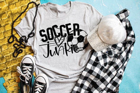 Soccer junkie tee, soccer shirt, soccer tank, football tee, soccer mom, ball field, that's my son, sport shirt, mom shirt, play ball, soccer
