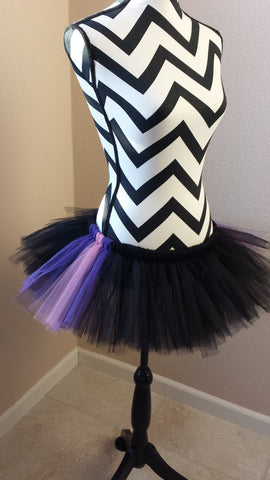 Halloween tutu, Maleficent tutu, running tutu, halloween costume, Ursula, adult tutu, black and purple tutu, running skirt, marathon skirt