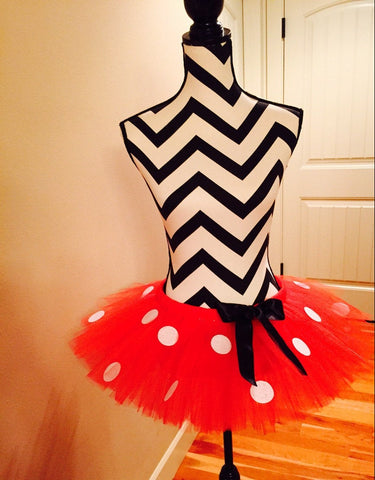 Minnie Mouse tutu, halloween costume, adult halloween, running tutu, disney tutu, run disney, running skirt, disney marathon, ladybug