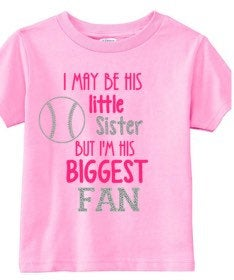 Girls baseball shirt, little sister tee