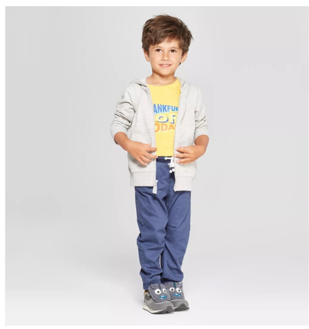 Seeds Preschool Uniform- Boys Grey Zip hoodie