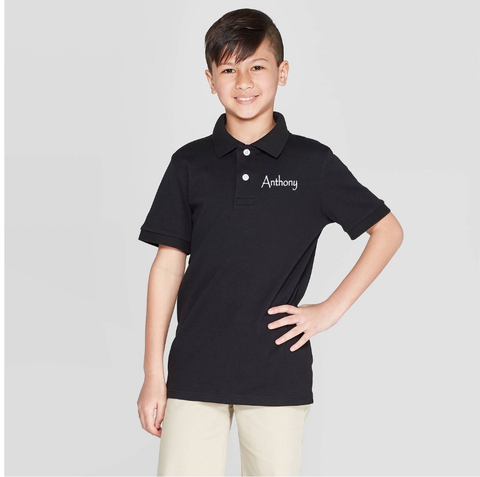 Seeds Academy Uniform-Boy Short sleeve Polo (Black)