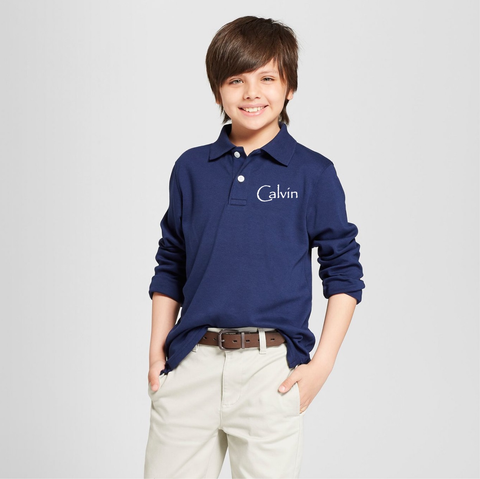 Seeds Preschool Uniform-Boys Long sleeve Polo (navy)
