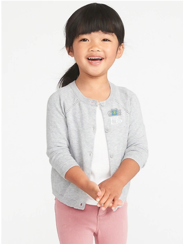 Seeds Preschool Uniform-Girls button up Sweater