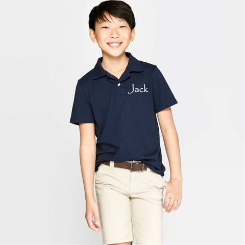 Seeds Preschool Uniform-Boy Short sleeve Polo (Royal Blue)