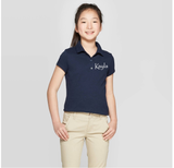Seeds Preschool Uniform-Girls Short sleeve Polo (Navy)