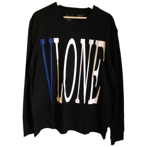 Vlone Blue Logo Long Sleeve Shirt
