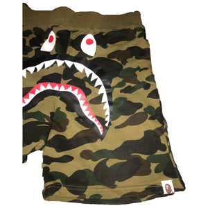 Green shark camo shorts by A Bathing Ape/ BAPE
