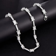 Load image into Gallery viewer, Iced Out Barbed Wire Necklace