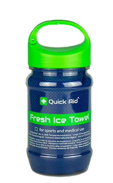 QUICK AID Fresh Ice Towel 34x80cm blau