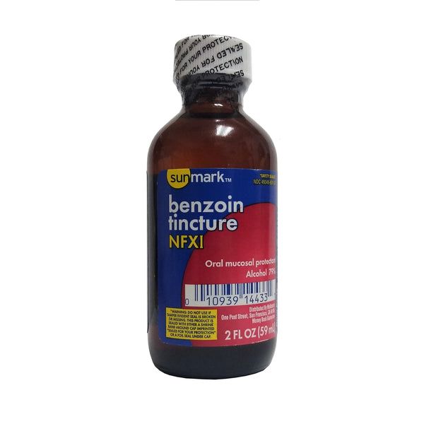 Sunmark™ Benzoin Tincture NFXI, Oral Mucosal Protectant, 2 fl. oz., 1 Bottle Each, By Humco Holding Group