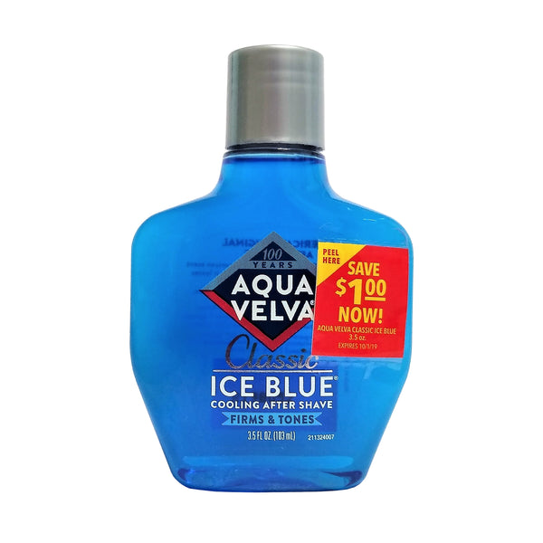 Aqua Velva Classic Ice Blue Cooling After Shave, 3.5 Fl. Oz., 1 Each, By Combe Incorporated