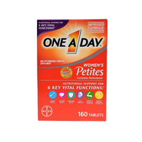 One A Day Women's Petites Complete Multivitamin, 160 Tablets, 1 Box Each, By Bayer