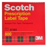 Scotch Prescription Label Tape, 2 In X 72 Yd, 1 Boxed Roll Each,  By 3M