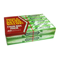 Wrigley's Spearmint Chewing Gum, 40 x 5 packs, Case Of 20, By Mars Wrigley