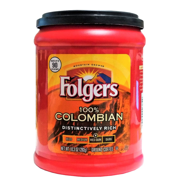 Folgers 100% Colombian Distinctively Rich, Medium-Dark, 10.3 Oz., 1 Each, By The Folger Coffee Company