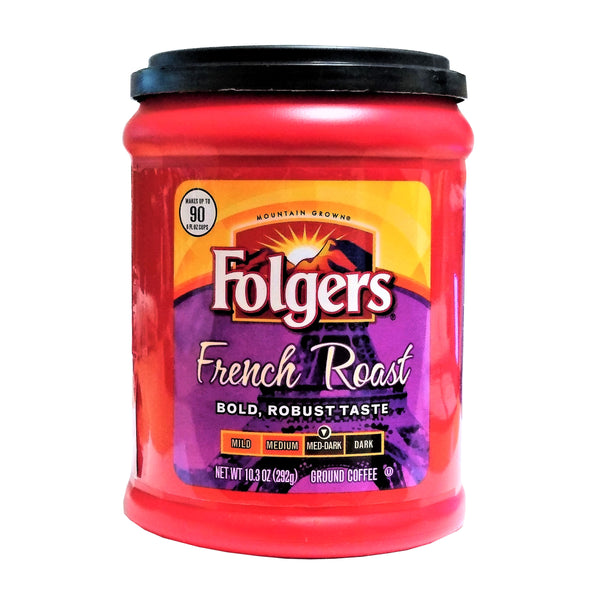 Folgers French Roast, Medium-Dark, 10.3 Oz., 1 Each, By The Folger Coffee Company