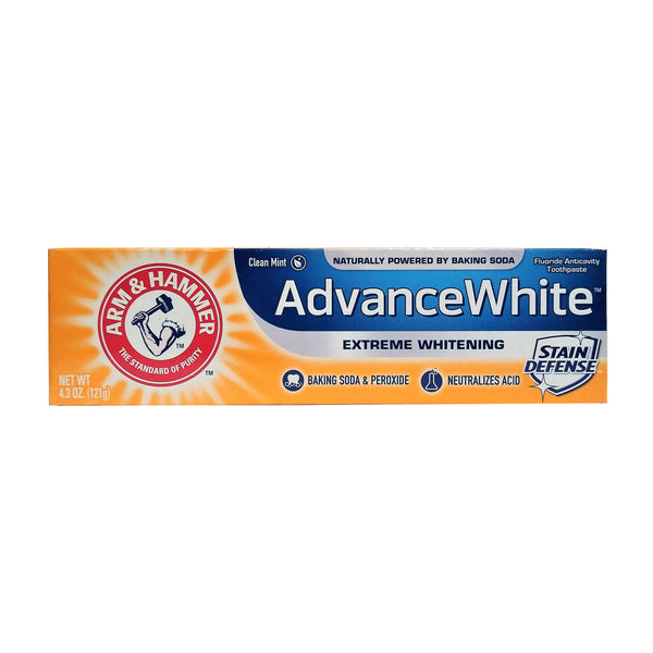 Arm & Hammer Advanced White-Extreme Whitening Toothpaste, Clean Mint, 4.3 Oz., 1 Each, By Church and Dwight