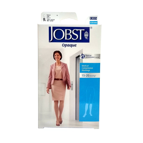 Women's Knee High Compression Support Stockings, Small, Opaque, 15-20 mmHg, 1 Each, By Jobst