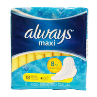 Always Regular Maxi Pads, 18 Ct., 1 Pack Each, By P&G