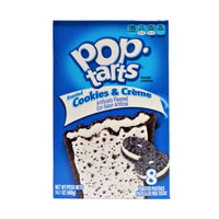 Pop-Tarts Frosted Cookies and Creme, 8 Count, 1 Box Each,  By Kellogg's