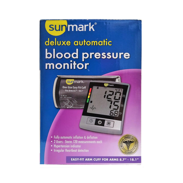 Sunmark Deluxe Automatic Blood Pressure Monitor, 1 Each, By Sunmark