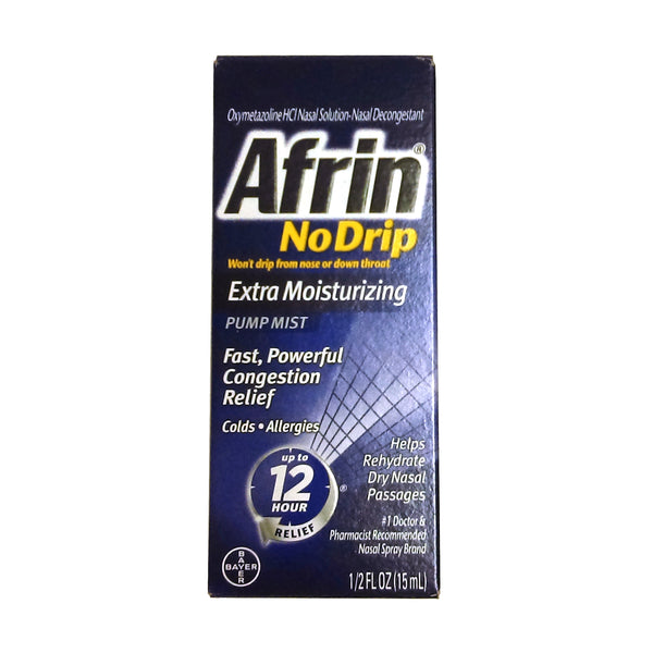 Afrin® No Drip Extra Moisturizing Pump Mist 12 Hour 0.5 Fl. Oz., 1 Each, By Bayer