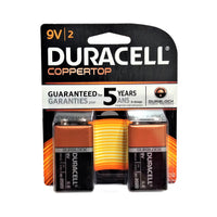 Duracell Coppertop Alkaline Batteries 9V, 2 Ct., 1 Pack Each, By Duracell Company