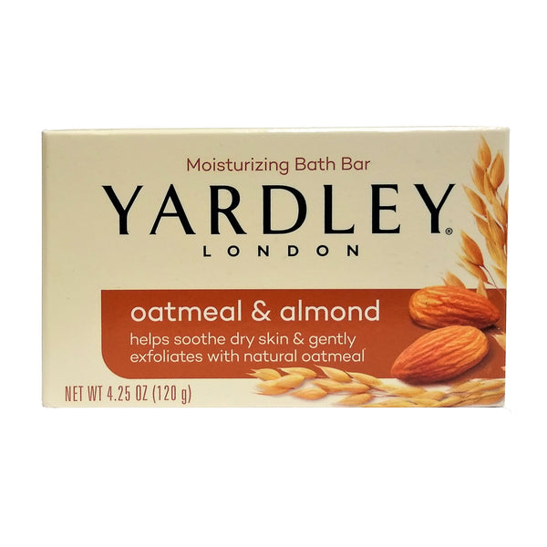 Yardley London Bath Bar, Oatmeal & Almond, 4.25 Oz, 1 Bar Each, By Cosmopolitan