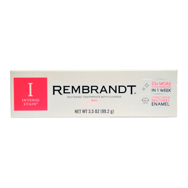 Rembrandt Intense Stain Whitening Toothpaste With Fluoride, Mint Flavor, 3.5 Oz, 1 Each, By PPC