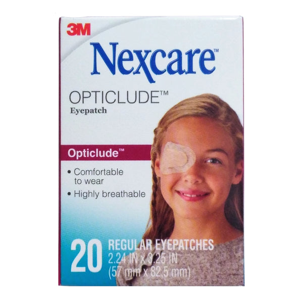 Nexcare Opticlude, Orthoptic Eye Patch, 20 Count, 1 Each,  By 3M