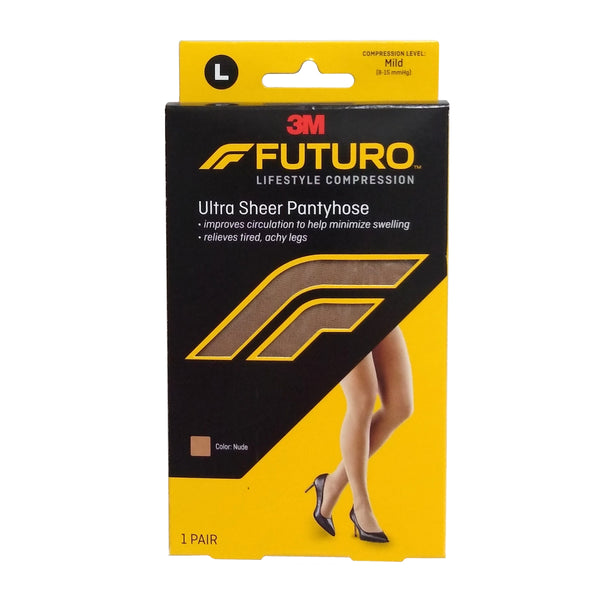 Futuro Mild Compression Ultra Sheer Support Pantyhose, Large, 1 Pair Each, By 3M Personal Care