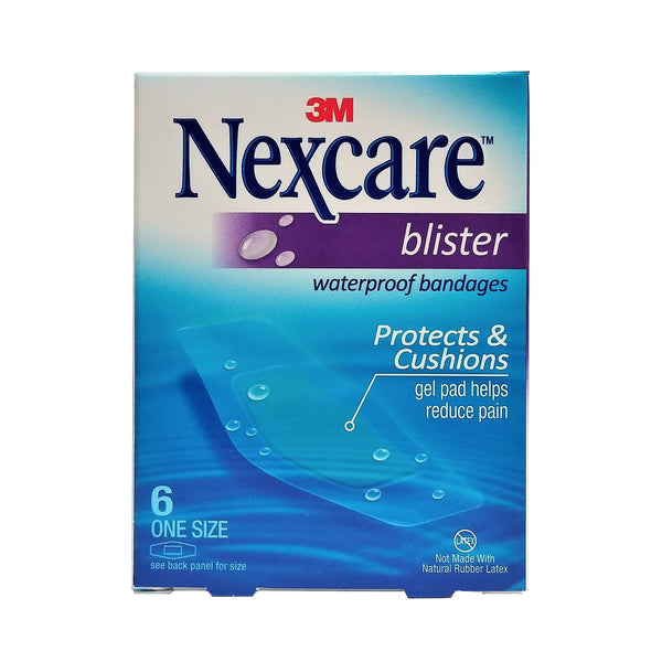 Nexcare Blister Waterproof Bandages, One Size, 6 Count, 1 Each,  By 3M