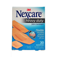 Nexcare Heavy Duty Fabric Bandages, Assorted Sizes, 30 Count, 1 Each,  By 3M