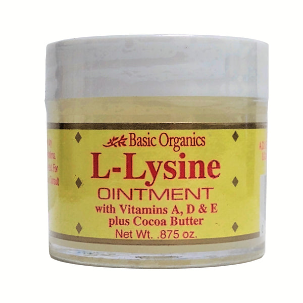 L-Lysine Ointment, .875 Oz., 1 Each, By Basic Organics