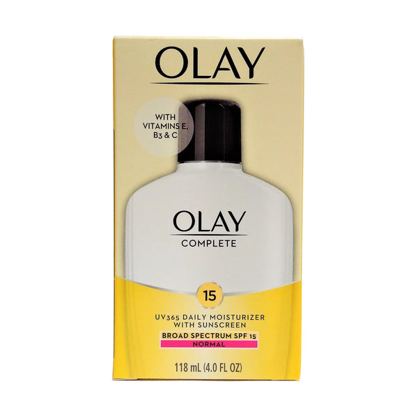 Olay Complete Daily Moisturizer For Normal Skin With Broad Spectrum SPF 15, 4 Fl. Oz, 1 Each