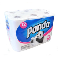 Panda Soft & Strong Ultimate Premium Bath Tissue, 12 Double Plus Rolls, 1 Pack Each, By First Quality Enterprises, Inc.
