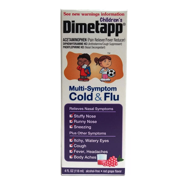 Dimetapp Multi-System Red Grape Cold And Flu, 4 Fl. Oz., 1 Bottle Each, By Pfizer Consumer Healthcare