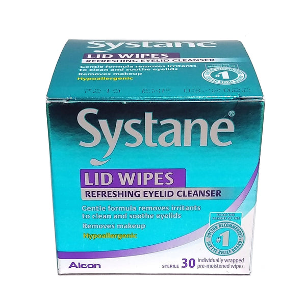 Systane Lid Wipes, Eyelid Cleansing Wipes, 30 Count, 1 Box Each, By Alcon