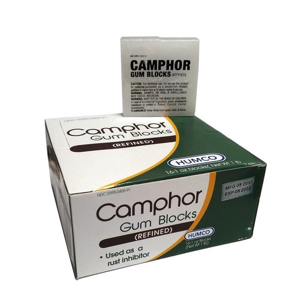 Camphor Refined Gum Blocks Rust Inhibitor, 1 Oz., 16 Count Blocks, 1 Box Each, By Humco Holding Group