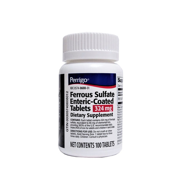 Ferrous Sulfate Enteric Coated Tablets, 100 Tablets, 324 Mg., 1 Each, By Perrigo®