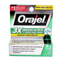 Orajel Medicated Instant Pain Relief Gel, 0.25 Oz, 1 Each, By Church and Dwight