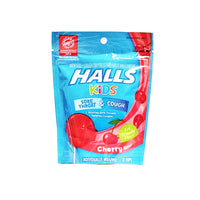 Halls Kids Sore Throat And Cough Pops, Cherry Flavor, 10 Ct., 1 Pack Each, By Cadbury