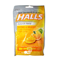 Halls Sugar-Free For Sore Throat And Cough, Citrus Blend, 25 Ct., 1 Pack Each, By Cadbury
