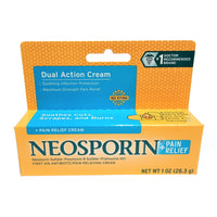 Neosporin + Pain Relief Dual Action Cream, 1 Oz, 1 Each, By Johnson And Johnson