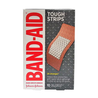 "Band-Aid Tough Strips Bandages, All One Size 1 3/4"" x 4"", 10 Each, By Johnson & Johnson"